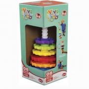 Brinquedo Educativo Giro Mágico 8 Peças Dismat MK326