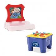 Cadeirinha Didática dos Smurfs Samba Toys