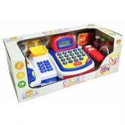 Caixa Registradora Infantil Com Acessórios Azul  Dm Toys