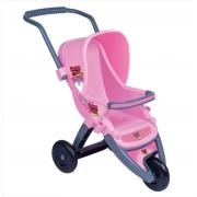 Carrinho De Passeio 3 Rodas Rosa Reborn 438 Super Toy