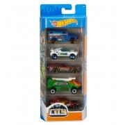 Carrinhos Hot Wheels City Pack com 5 - Mattel