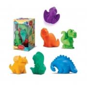 Coleção Bichinhos Para Banho Dinos 6 Brinquedos De Banho