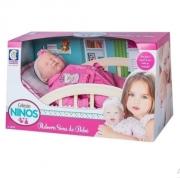 Coleção Ninos - Reborn Dormindo de roupa Rosa
