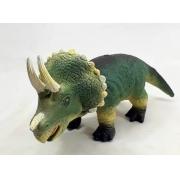 Dinossauro Triceratops Vinil Emborrachado com Muito Realismo 15x9x35 cm