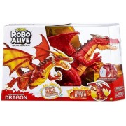 Dragão Vermelho Robô Alive Sopro de Fogo Zuru 1112 Candide