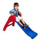 Escorregador Baby Divertido Escada Vermelha e Rampa Azul
