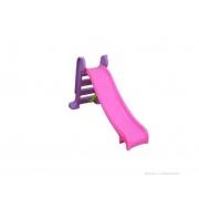 Escorregador médio com 3 degraus Rampa rosa com Escada lilas