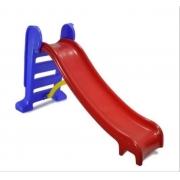 Escorregador Infantil Médio com 3 degraus Rampa Vermelha e Escada Azul