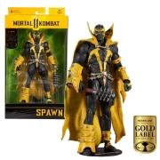 Figura Articulada Mortal Kombat Spawn Gold Label
