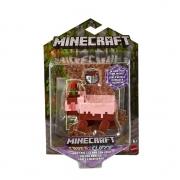 FIgura Minecraft Porco Enlamaçado Cave Cliffs Mattel
