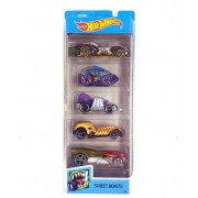 Hot Wheels Conjunto C/ 5 Carros Street Beasts