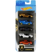Hot Wheels Kit Com 5 Carrinhos Lamborghini