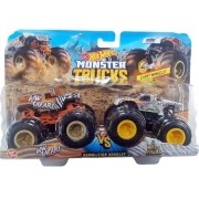 Hot Wheels - Monster Trucks 1:64 - Pack com 2 - Hw Safari Contra Wild Streak Gjf64