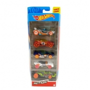 Hot Wheels - pack 5 Action - Mattel