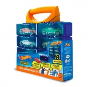Hot Wheels Porta Carrinhos Modular C/ 8 Divisões - Fun