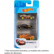 Hot Whells - Pack Com 3 Carrinhos Sortidos