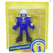 Imaginext Mini Figura Com Acessórios - Jogador de Hockey no gelo - Fisher Price