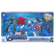 Kit  Avengers Bend And Flex Homem De Ferro, Capitão América E Treinador E9198 Hasbro