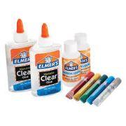 Kit Com 2 Colas Translucidas 5 Glitters E 2 Ativadores Elmers Slime
