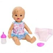 Little Mommy - Bebê Faz Xixi - Hora de Fazer Xixi Morena FBC88/FBC90 - Mattel
