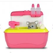 Maleta Pet Shop Filhotinhos Coleção Gatinhos com Acessórios Rosa 5860