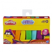 Massinha Play Doh Bastão Box Color com 16 cores - Hasbro