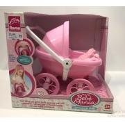 Mini Bebê Mania Carrinho De Bebê Rosa claro com Branco Roma 5359