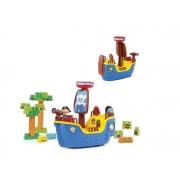 Molto Blocks Navio Pirata Azul 8002 Cardoso Toys