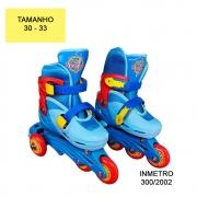 Patins Infantil 3 em 1 Triline Azul 30 ao 33 UniToys