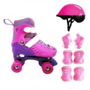 Patins Roller Ajustável Radical Cadarço 31 ao 34 DM Toys