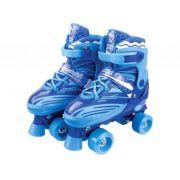 Patins Roller Skate ajustáveis Azul (30-41) Fênix