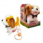 Pelúcia Interativa - Playfull Pets Cachorrinho Bege e Branco - Toyng