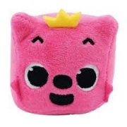 Pelúcia Musical Baby Shark Pinkfong Cubo Rosa Toyng 39258