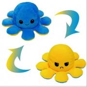 Pelúcia Polvo Divertido Humor Amarelo e Azul Médio Mega fofo