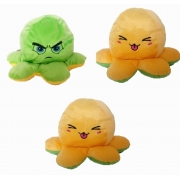 Pelúcia Polvo humor Grande Amarelo e Verde claro