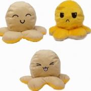 Pelúcia Polvo humor Grande bege e amarelo