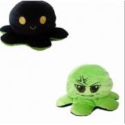 Pelúcia Polvo humor Grande verde e preto