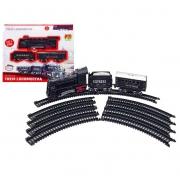 Pista Trem Locomotiva DM Toys DMT5373