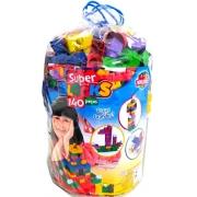 Super Blocks - 140 Peças - World blocks kids
