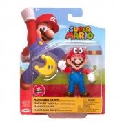 Super Mario Boneco Mario And Cappy 4 polegadas colecionável Candide