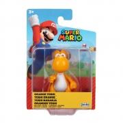 Super Mario Boneco Yoshi Laranja colecionável Candide