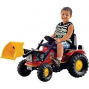 Trator Pedal Farmer Vermelho Com Pá E Caçamba Máquina Agrícola 315 Biemme
