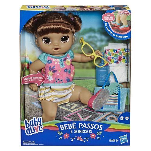 Baby Alive Passos e Sorrisos Morena - Hasbro - E5248