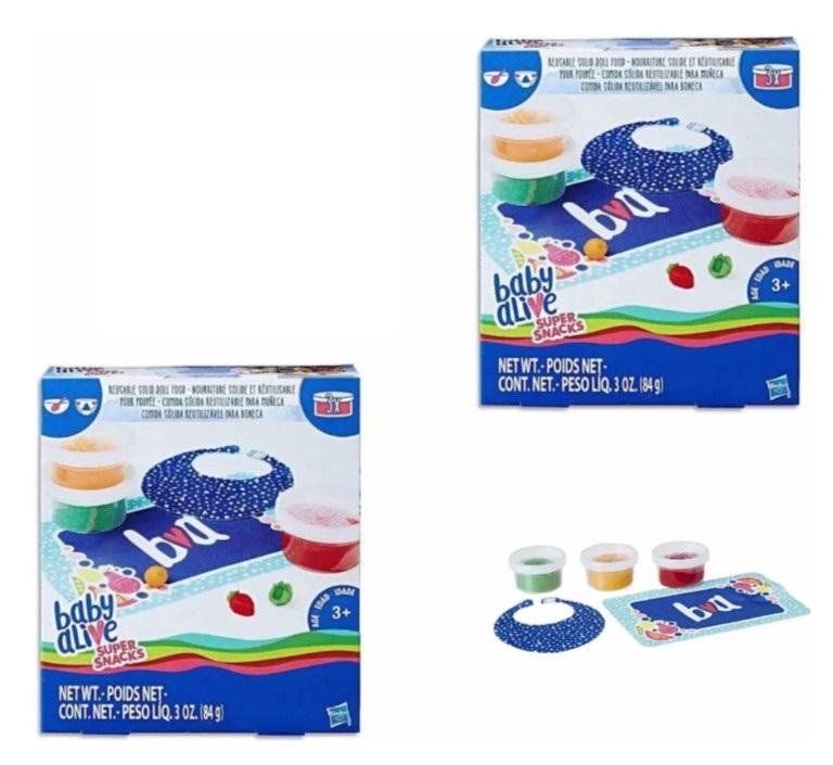 Baby Alive Super Snacks - Refil de comida sólida reutilizável para boneca
