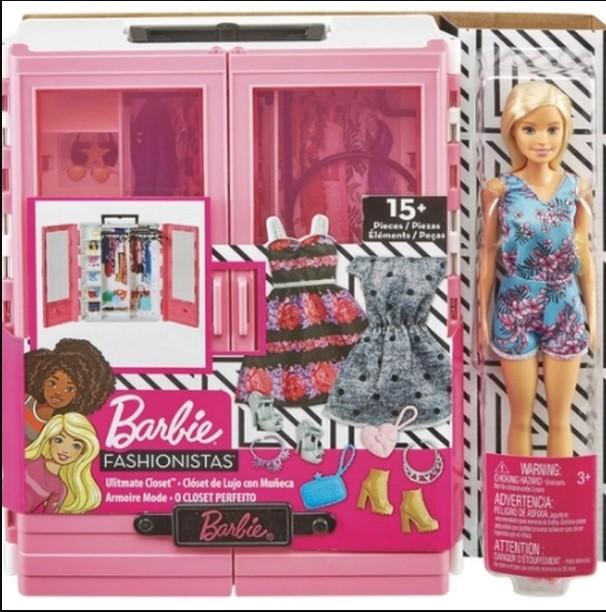 Barbie Closet De Luxo Com Boneca GBK12 Mattel