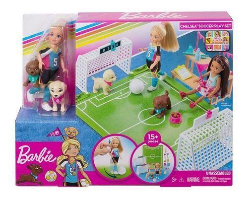 Barbie Dreamhouse Chelsea Futebol com Cachorrinho Mattel