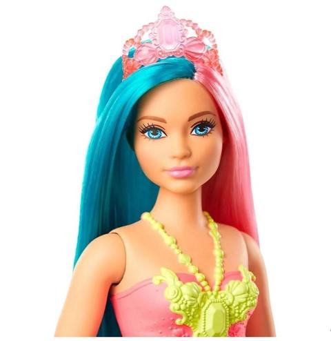 Barbie Dreamtopia Sereia Cabelo Rosa E Azul Turquesa Mattel