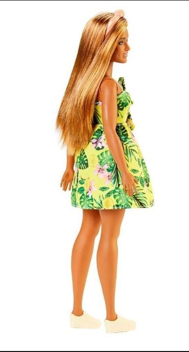 Barbie Fashionista Vestido Floral Amarelo 126 Mattel