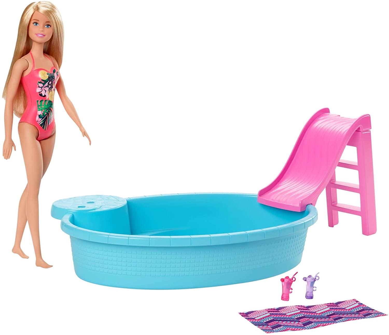 Barbie Piscina Chique com Boneca GHL91 Mattel