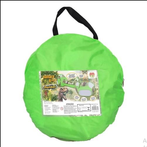 Barraca Infantil 3 em 1 Dinossauro Verde Dm Toys